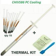 10 x hy750 color argento 0.5g sottile TUBETTO PASTA TERMICA Pasta per CPU VGA