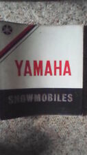 "Used Yamaha Snowmobiles 2"" White 3 Rings Binder"