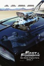 FAST AND FURIOUS 4 MOVIE POSTER 2 Sided ORIGINAL Advance 27x40 VIN DIESEL