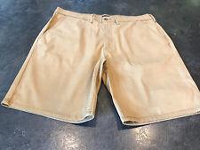 Men's Levi Strauss & Co Tan Khaki Flat Front Chino Bermuda Shorts Size 38