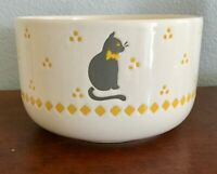 Vintage Waechtersbach CAT Lg Mixing Bowl W. Germany Gray, White & Yellow 3 1/2qt