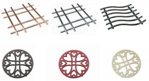 TRIVET Various Sizes & Colour Round,Square ,Cast-Iron, Copper, Chrome, Black Red