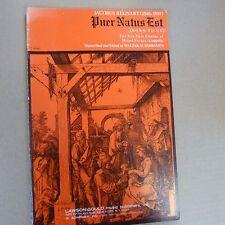 Partitura vocal Jacobus Regnard Puer Natus Est, Walter rubsamen, Lawson Gould