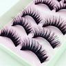 5 Pairs Makeup Soft Long Thick False Eyelashes Eye Lashes Nautral Mink Handmade