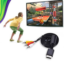5FT Male to 3 RCA AV Audio Video Cable Cord Adapter for 1080p TV HDTV DVD