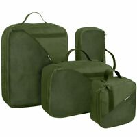 Wisport PackBox Set of 4 Pouches Military Travel Organiser Handle Olive Green