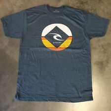 Rip Curl Men's T-shirt w/design logo, blue - Medium only