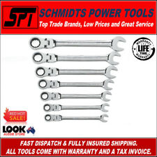 GearWrench 9700 Imperial Flex Head Ratcheting Wrench Set SAE 7 PCE Spanner Set