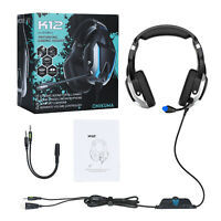 USB 3.5mm Gaming Headset MIC LED Headphones For PC Laptop PS4 Slim Pro Xbox One