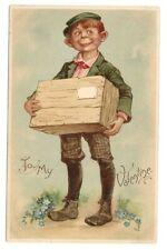To My Valentine Irish Delivery Boy, Box, Tuck Valentine Series brundage Postcard