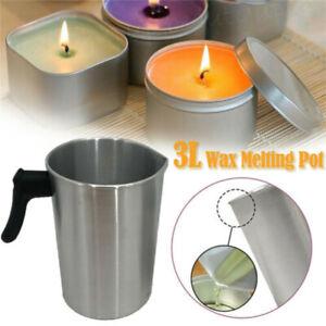 1.2/3L Wax Melting Pot Pouring Pitcher Jug Large Aluminium Pot Candle Soap Maker