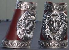 Greek Roman lion arm bracers bracer wrist guards leather iron armor archery arm