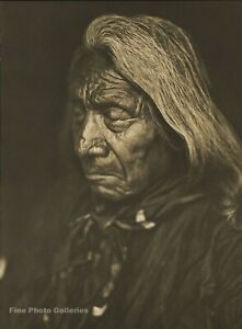 1900/72 EDWARD CURTIS Big Folio NATIVE AMERICAN INDIAN Chief RED CLOUD Photo Art