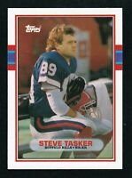 1989 TOPPS TRADED ROOKIES STEVE TASKER #65T RC CARDS BILLS FOOTBALL