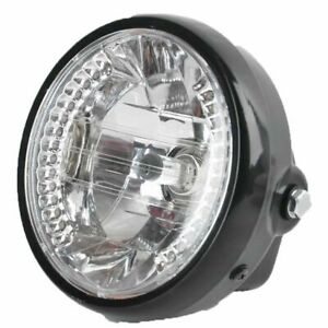 """6.5"""" inch Motorcycle H4 Headlight Amber Turn Signal Light for Harley Cafe Racer"""