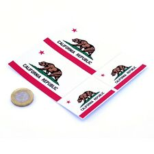 "California State Flag Stickers x4 3"" & 2"" USA Car Vinyl Rally Window Decals"