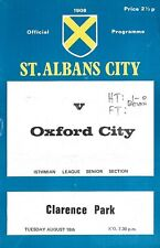 Football Programme>ST. ALBANS CITY v OXFORD CITY Aug 1970