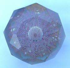 HEAVY ANTIQUE FRENCH ST LOUIS BACCARAT GLASS PAPERWEIGHT PRESSE PAPIER MONOGRAM
