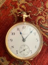 ELGIN GOLD PLATED 17 JEWELS POCKET WATCH WORKING ORDER KEYSTONE CASE