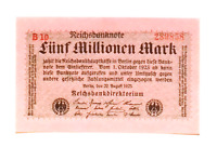 1923 Germany Weimar Republic 5.000.000 Mark Banknote UNCIRCULATED CONSECUTIVE
