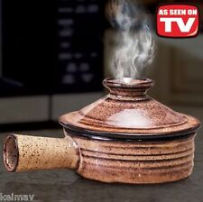Stone Wave Microwave Cooker Ceramic Stoneware Baking Pan Non-Stick Ceramic