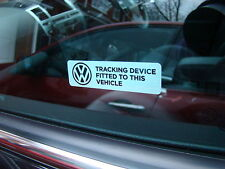VW WINDOW ALARM GPS STICKERS GOLF POLO PASSAT T5 BORA VOLKSWAGAN
