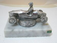 Vintage Soap Box Derby Trophy Italian Marble w Metal Old and So Cool!  Figural