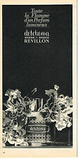 PUBLICITE ADVERTISING 064  1963  REVILLON  parfum DETCHEMA