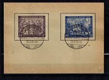 S B Z  198 - 199 auf Papierkarte mit Sonderstempel - Rückseite ist blank