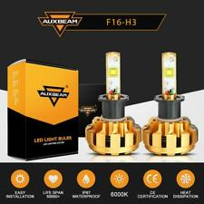 AUXBEAM H3 CREE LED Fog Light Bulb Conversion Kit Super Bright 6000K White 60W
