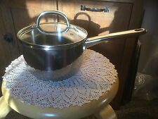 Pre Owned Kitchen A La Carte 2 Quart Saucepan with Lid.  Stainless.  Some wear.