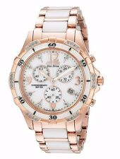 Citizen Eco-Drive Women's FB1233-51A Diamond Dial Chronograph Two Tone Watch