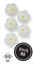 Weiße Zuckerblumen zum Kuchendekorieren & Dekorationen