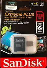SanDisk Extreme PLUS 128GB microSDXC UHS-I Class 10 4K UHD Memory Card 95 MB/s