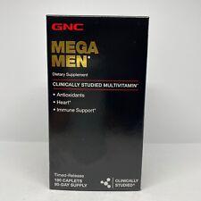 GNC Mega Multivitamin Caplets for Men 180 Caplets Free Ship