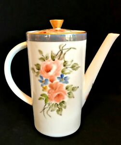 Seltmann Weiden Bavaria Christian Tea Coffee Pot Signed Minnie Strudivant 08