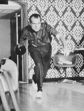 LARGE Vintage Nixon Bowling at the White House 1970 Poster Print, Big Lebowski