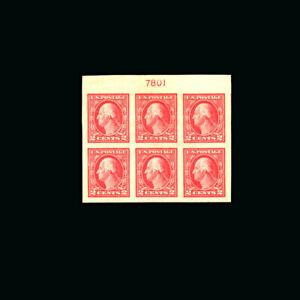 US Stamp Regular Issues Mint OG & H, Super b S#482 Pl.Blk.of 6
