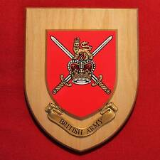 British Army Wall Plaque Badge Shield - UK Military Forces, New Hand Crafted
