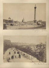 STUNNING ALBUMEN PHOTOS OF 1900S LONDON, ENGLAND - SET OF THREE