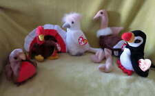 NEW Lot Beanie BIRDS Ostrich Robin Puffin Turkey KuKu TOY 96 97 98 Early Puffer