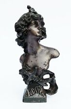 "Antique C 1890 Art Nouveau Cast Spelter Bust ""Judith"" by sculptor Franz Iffland"