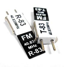 RC 40 MHz 40.835 FM Cristal TX & RX Receptor 40 MHz Negro canal 83