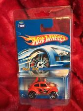Hot Wheels 2005 Kar Keepers Orange VW Baja Beetle Bug In Kar Keepers!