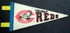 "Baseball Mini PENNANT 1970s Trench 6 3/4""  x 1"" Streamers CINCINNATI REDS"