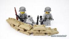 WW2 Custom Deutsche Mörser Stellung, bedruckt, mit BrickArms, aus LEGO® Teilen