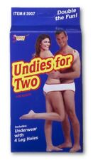 Undies For Two With 4 Leg Holes Adult Women's Men's Gag Gift Novelty Underwear