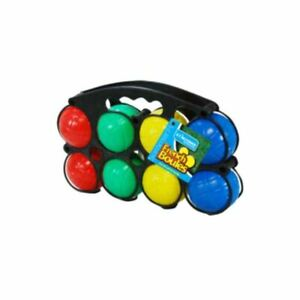 OUTDOOR BOULES GAME GARDEN BALL SET FUN COLOURFUL KIDS FAMILY FRENCH BOULES GAME