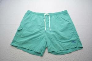 Tommy Bahama Swim Trunks Cargo Board Shorts Teal Hawaiian Mens Size 1XL