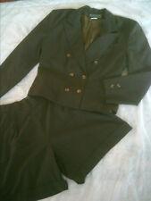 tailleur short et veste marron 38 / 40 état neuf